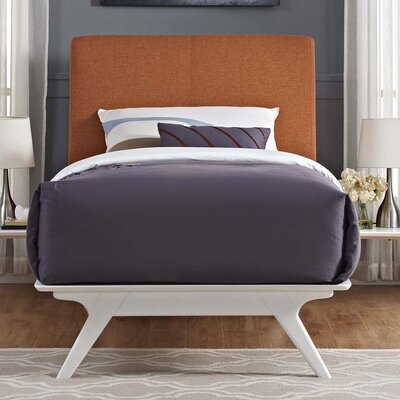 Hannigan Panel Bed Size: Full, Color: Orange