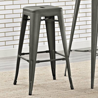 Ashlyn 30 Square Bar Stool Color: Brown