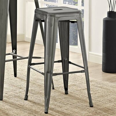 Ashlyn 30 Square Bar Stool Color: Gunmetal