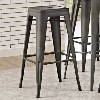 Ashlyn 30 Metal Bar Stool Color: Brown