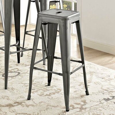 Ashlyn 30 Metal Bar Stool Color: Gunmetal