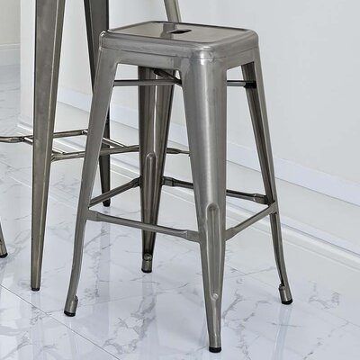 Ashlyn 30 Power Coated Steel Bar Stool Color: Gunmetal