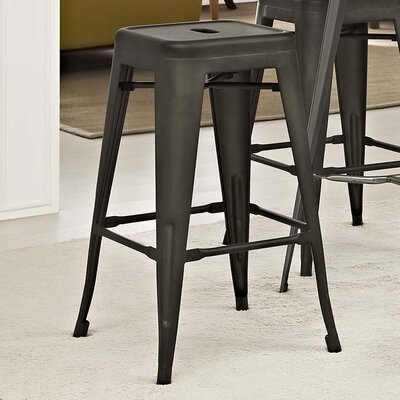 Ashlyn 30 Bar Stool Color: Brown