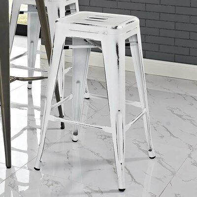 Ashlyn 30 Bar Stool Color: White