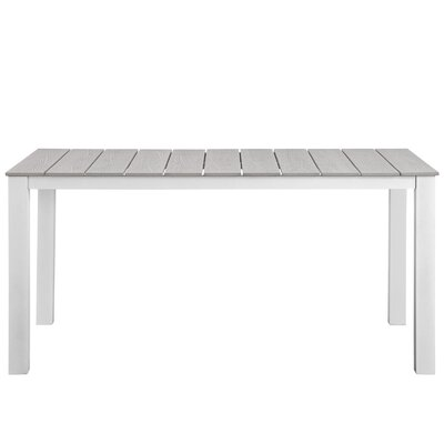 Ellport Plastic Patio Dining Table Base Finish: White/Lite gray