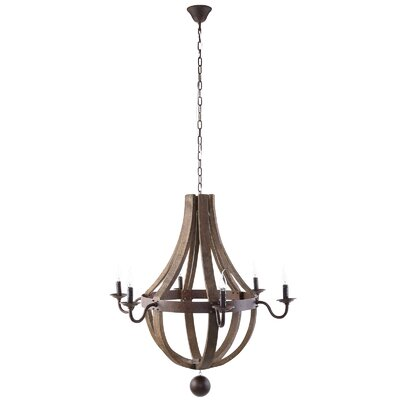 Damaris 6-Light Candle-Style Chandelier