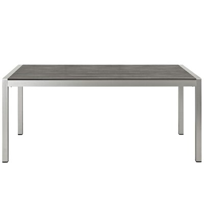 Coline Outdoor Metal Patio Dining Table
