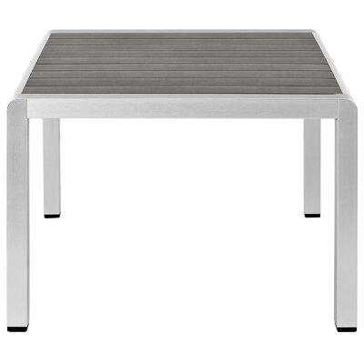 Coline Outdoor Metal Patio Coffee Table