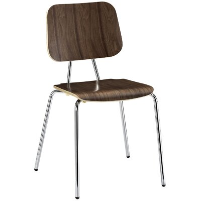 Motive Solid Wood Dining Chair Color: Walnut