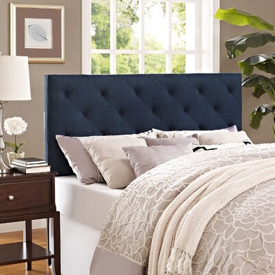 Theodore Queen Upholstered Headboard Upholstery: Navy
