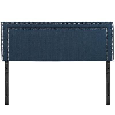 Eyre Queen Upholstered Panel Headboard Upholstery: Azure