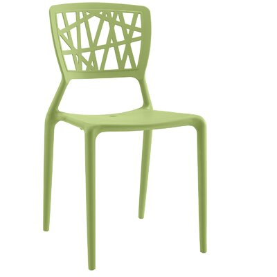 Prejean Dining Chair Finish: Green