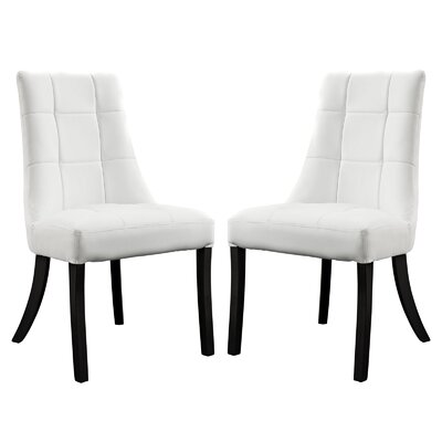 Chuck Upholstered Dining Chair Upholstery: White