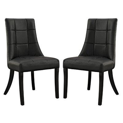 Chuck Upholstered Dining Chair Upholstery: Black