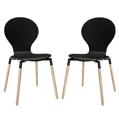 Tessie Dining Chair Finish: Black