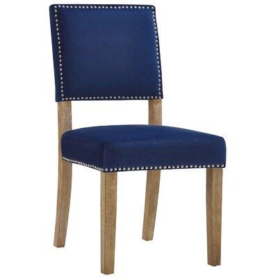 Trever Upholstered Dining Chair Upholstery: Navy