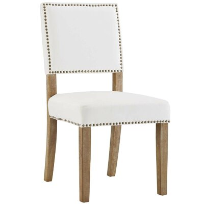 Trever Upholstered Dining Chair Upholstery: White