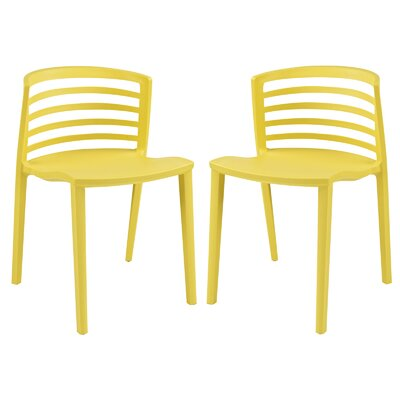 Predmore Dining Chair Finish: Yellow