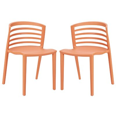 Predmore Dining Chair Finish: Orange