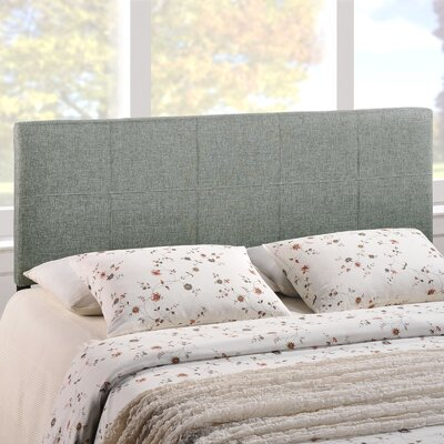 Francis Full Upholstered Panel Headboard Upholstery: Gray