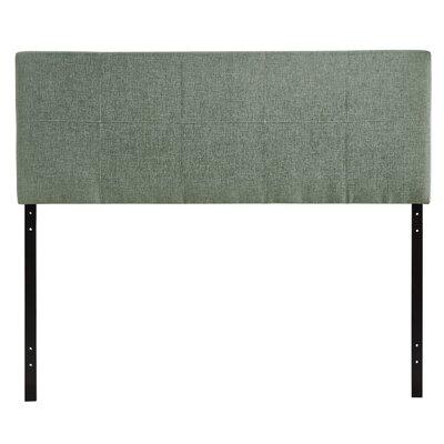 Francis Full Upholstered Panel Headboard Upholstery: Gray
