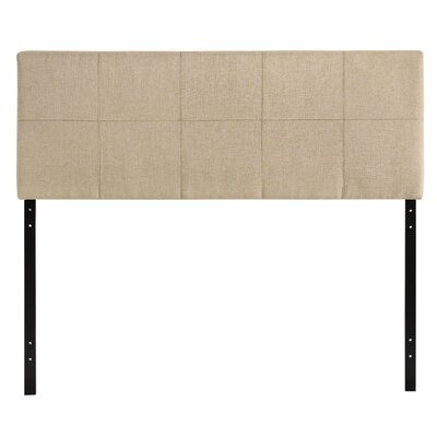 Francis Full Upholstered Panel Headboard Upholstery: Beige