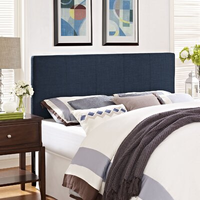 Francis Full Upholstered Panel Headboard Upholstery: Navy