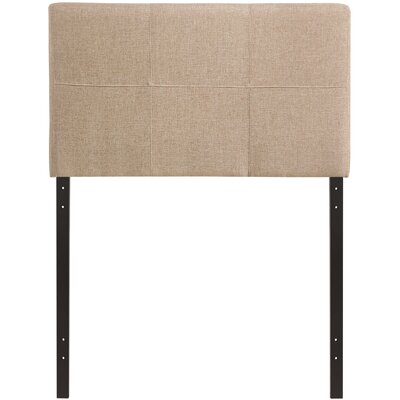 Francis Twin Upholstered Panel Headboard Upholstery: Beige