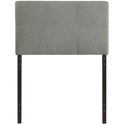 Francis Twin Upholstered Panel Headboard Upholstery: Gray