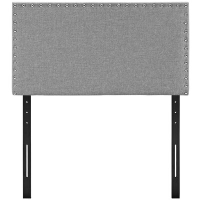 Preiss Twin Upholstered Panel Headboard Upholstery: Light Gray
