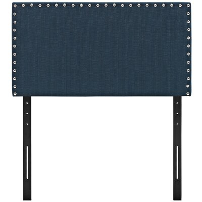 Preiss Twin Upholstered Panel Headboard Upholstery: Azure