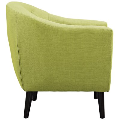 Uribe Barrel Chair Upholstery: Wheatgrass