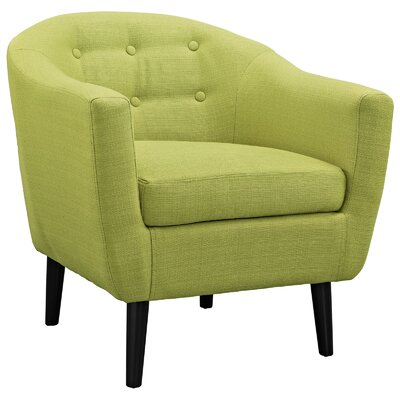 Uribe Upholstered Barrel Chair Upholstery: Wheatgrass