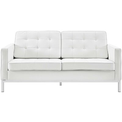 Gayatri Loveseat Upholstery: White