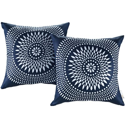 Fabela Outdoor Throw Pillow Color: Cartouche