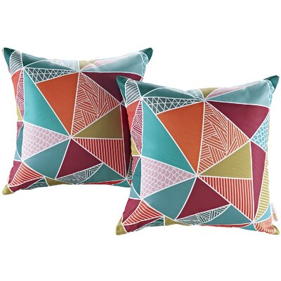 Fabela Outdoor Throw Pillow Color: Mosaic