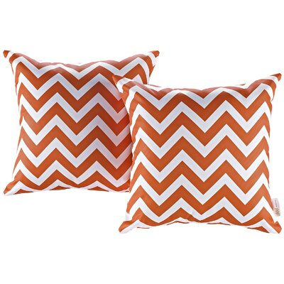 Fabela Outdoor Throw Pillow Color: Chevron