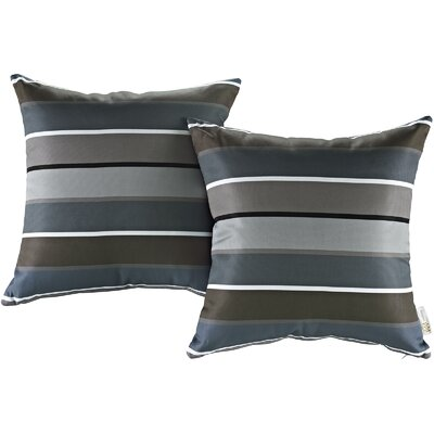 Fabela Outdoor Throw Pillow Color: Stripe