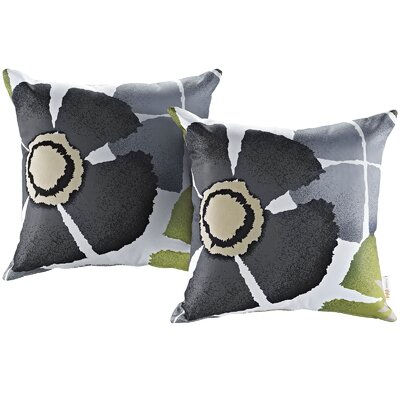 Fabela Outdoor Throw Pillow Color: Botanical