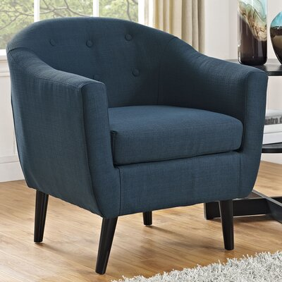 Uribe Barrel Chair Upholstery: Azure