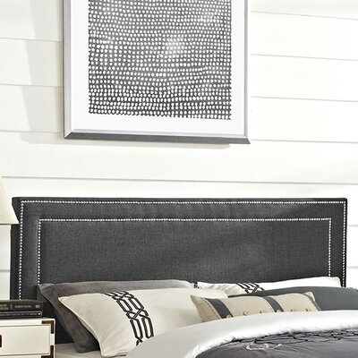 Eyre Queen Upholstered Panel Headboard Upholstery: Gray