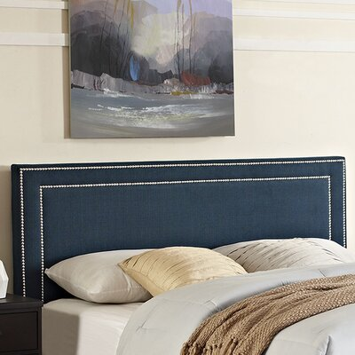Eyre Queen Upholstered Panel Headboard Upholstery: Azure