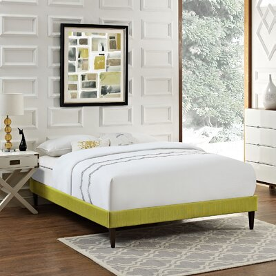 Sharon Platform Bed Color: Wheatgrass, Size: King