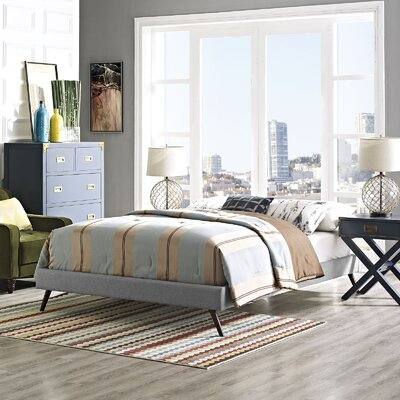 Helen Bed Frame Size: Full, Color: Light Gray