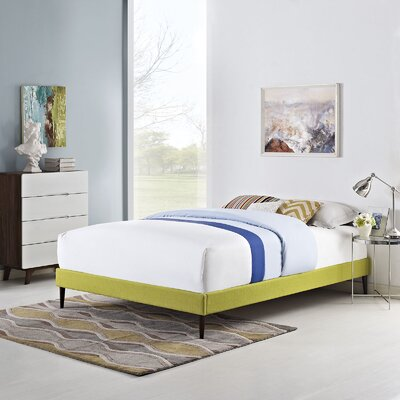 Sherry Bed Frame Color: Wheatgrass, Size: Queen