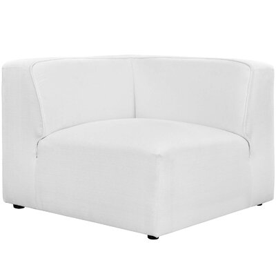 Worthley Corner Sofa Upholstery: White