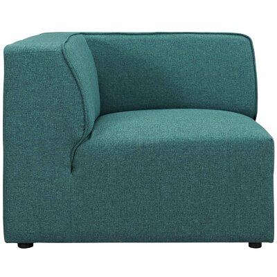 Worthley Corner Sofa Upholstery: Teal