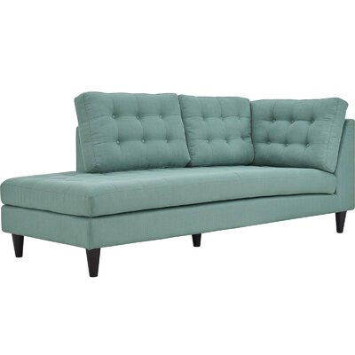 Warren Upholstered Left Arm Chaise Lounge Color: Laguna