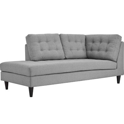 Warren Upholstered Left Arm Chaise Lounge Color: Light Gray