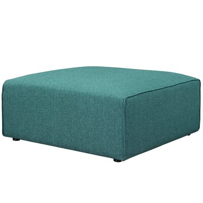 Worthley Cocktail Ottoman Upholstery: Teal